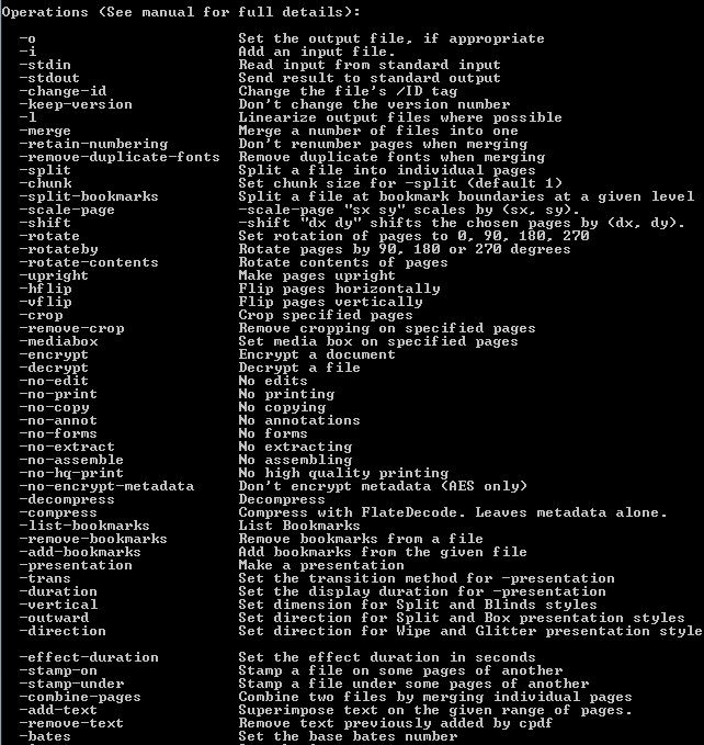 Click to View Full ScreenshotCoherent PDF Command Line Tools 1.6 screenshot
